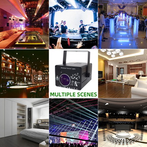 Image 4 - YSH DJ Disco Light 288 Pattern Animation Laser Projector Stage Light Effect Sound Activate Party Light for Wedding Vacation Club