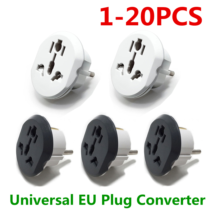 Universal EU Plug Converter EU Adapter 2 Round Pin Socket AU US UK CN To EU Wall Socket AC 16A 250V Travel Adapter High Quality