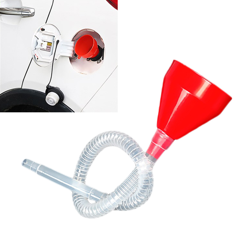 Universal Oiler Filter Funnel Car Truck Motorcycle Filled Plastic Vehicle With Spout Pipe Pour Diesel Gasoline Car Repair Tool