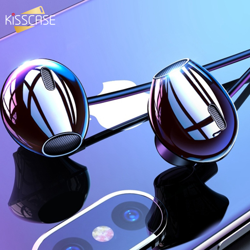 äCloseout DealsKISSCASE Earphone Headset Wired-Control Stereo-Bass Samsung with Mic for Xiaomi In-Ear▀