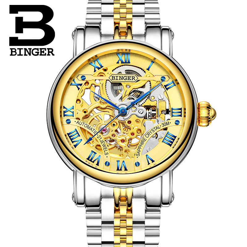 Switzerland Mechanical Watch Men Female Business Men Watches Skeleton Wrist Automatic Men Woman Watch Waterproof Relogio 2019
