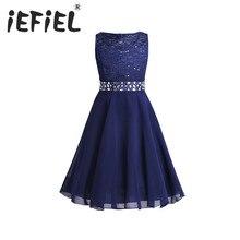 Элегантное детское кружевное платье принцессы с цветами для девочек, вечерние бальные платья пачки подружки невесты для младенцев, детская одежда