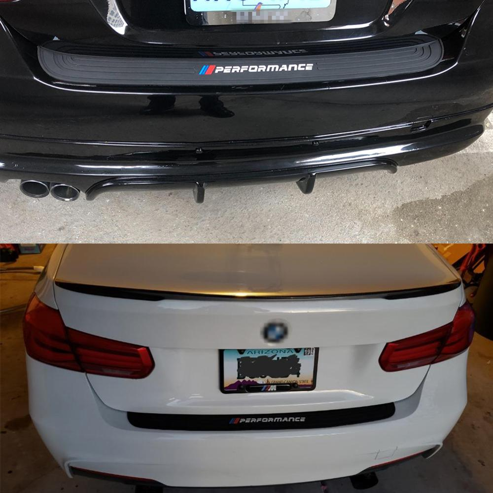 Image 4 - 90cm Stickers For BMW 1 2 3 4 5 7 Series M3 M4 M5 X1 e70 e92 g30 e34 e9 F30 F10 Car Trunk Rear Bumper Trim Guard Plate Protector-in Car Stickers from Automobiles & Motorcycles