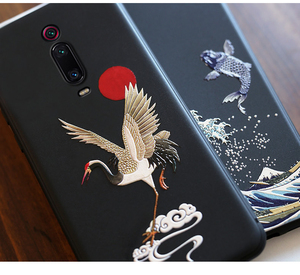 Image 4 - for Xiaomi Redmi K30 Ultra K20 Pro K20 Mi 9T POCO X2 F2 Case 3D Relief Emboss Matte Soft Cover LICOERS Official Case Funda Shell