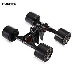PUENTE 2 unids/set Skateboard camión con 4 ruedas de Skateboard almohadilla elevadora ABEC-9 perno de cojinete tuerca para Mini Cruiser Longboard