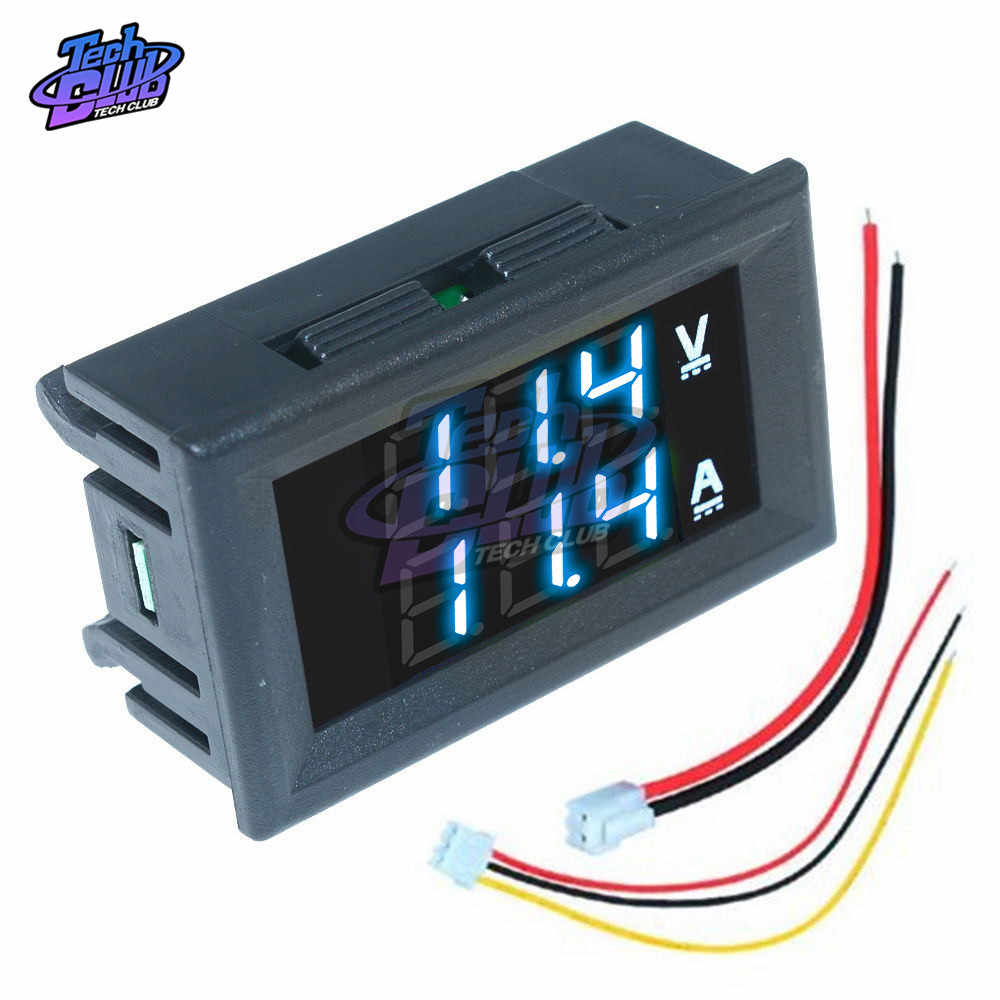 Dc 0- 100V Mini Digitale Voltmeter 10A Panel Amp Volt Voltage Current Meter Tester Detector Led Display Auto auto Rood Blauw Groen