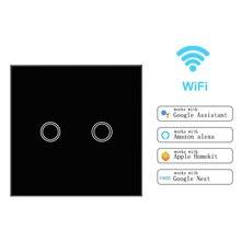 Touch Switch Smart Light Panel Wall interruptor 1 2 3 Gang WiFi light switch US/EU Standard Work with Alexa Google Home