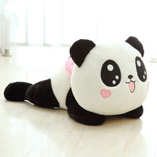Poupée en peluche de 20cm, Animal en peluche mignon, Panda, oreiller doux, traversin, cadeau