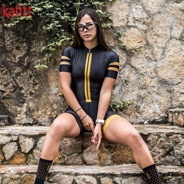Kafitt triathlon manga curta camisa de ciclismo terno ciclismo wear shorts terno completo ropa ciclismo secagem rápida jérsei maillot 5