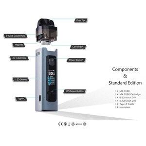 Image 3 - ADVKEN MX קוביית פתוח Pod ערכת סיגריות אלקטרוניות ערכת vape עט עם 4.5ml קיבולת 18650 1000mAh סוללה vaper ערכת