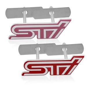 1 Uds diseño de coche nuevo 3D Metal STI pegatina de rejilla delantera emblema insignia para SUBARU LEGACY Forester Outback Impreza accesorios de coche