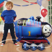 2pcs Large Thomas Train Foil Balloon Car 64cm*80cm Kids Toy 1st/2nd/3rd/4th/5th Boy Birthday Party Decoration Christmas GifTS(China)