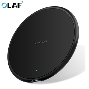 Olaf 10W Qi Wireless Charger For Samsung Galaxy S10 S9/S9+ S8 Note 9 USB Fast Charging Pad for iPhone 11 Pro XS Max XR X 8 Plus(China)