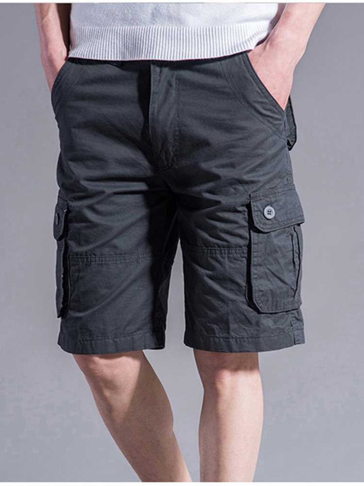 Joggers Shorts Mulit-Pocket Breathable Large-Size Men Summer Casual Trousers 46 44 42