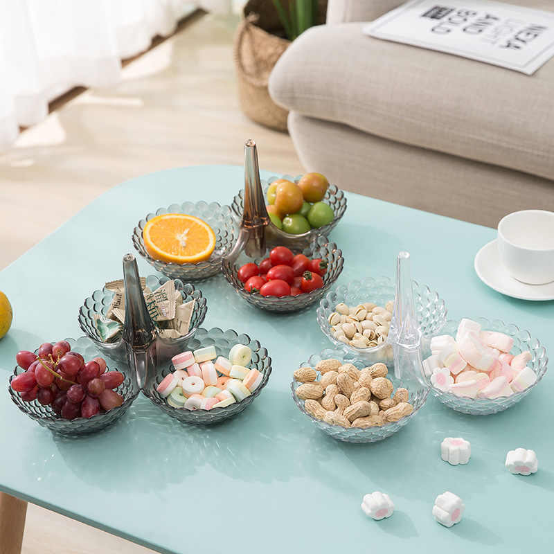 ที่ถอดออกได้ผลไม้พลาสติกที่ใช้ในครัวเรือนขนมขบเคี้ยวจานบนโต๊ะอาหารถาดขนมสำหรับงานแต่งงาน