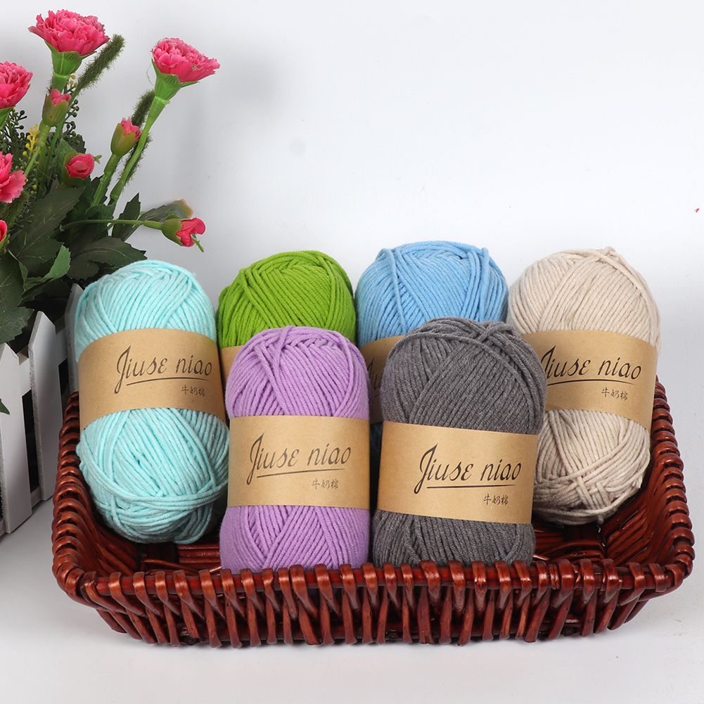 5 Strands Spun Cotton Ropes DIY Knitting Weaving Crochet Knitwear Twine Thread Yarn Cord for Home Baby Scarf Sweater