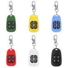433 MHz RF coloré télécommande copie 4 canaux clonage duplicateur clé Fob A Distance apprentissage électrique porte de Garage contrôleur