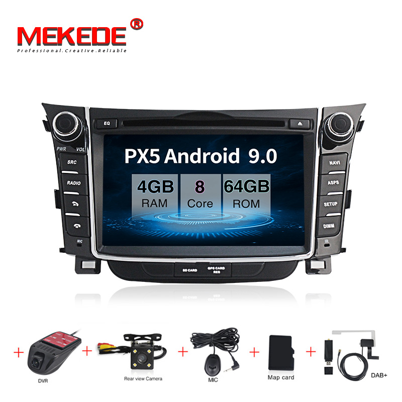 MEKEDE Android 9 Car multimedia player Head unit For <font><b>Hyundai</b></font> I30 <font><b>Elantra</b></font> GT 2012 2013 2014 2015 2016 radio tape recorder image