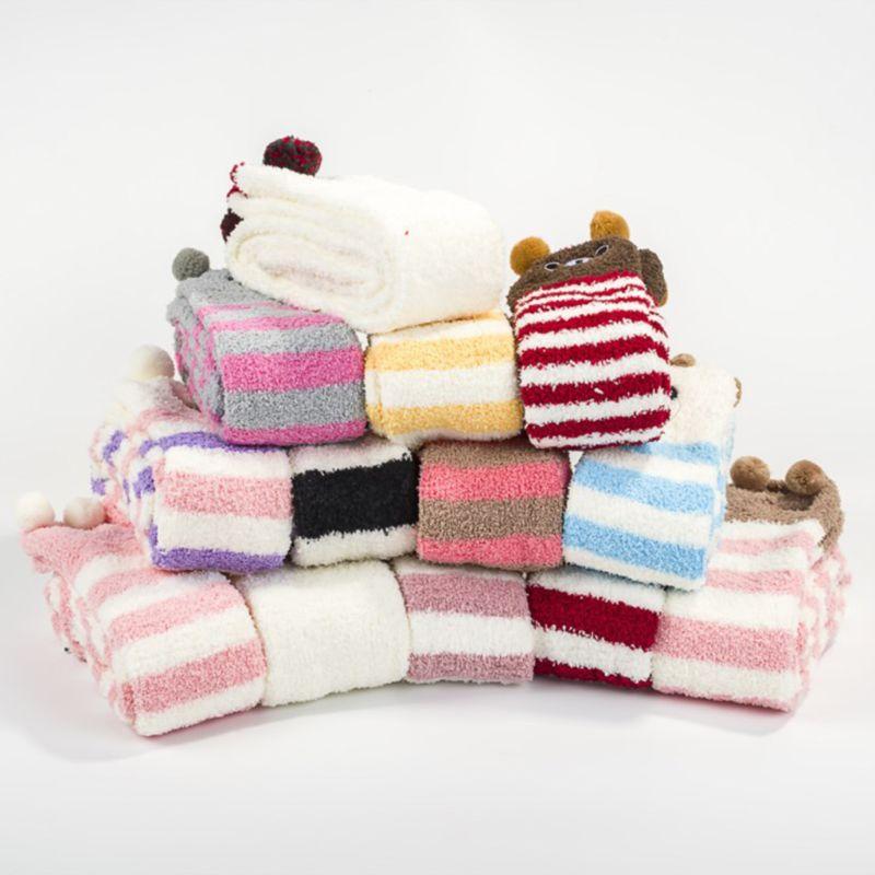 Womens Winter Warm Coral Velvet Thigh High Over Knee Long Sleep Socks