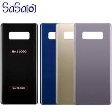 10 pièces de rechange en verre arrière pour Samsung Galaxy Note8 Note 8 N950 couvercle de la batterie boîtier de la porte arrière + autocollant