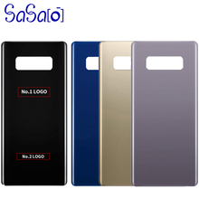 10Pcs Back Glass Replacement parts For Samsung Galaxy Note8 Note 8 N950 Battery Cover Rear Door Housing Case + Sticker