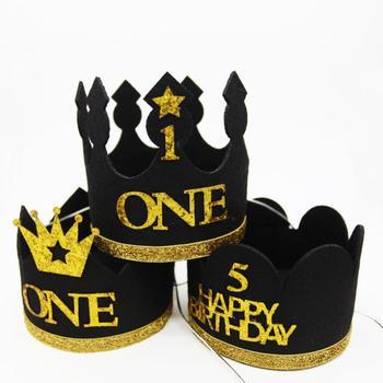 Gorros de decoración para primer cumpleaños, sombrero de princesa, corona, primer cumpleaños, 2 ° y 3 ° año, regalo de decoración para fiesta de cumpleaños, 1 unidad