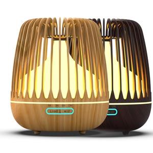 Image 5 - Yajiao Ultrasone Luchtbevochtiger 500 Ml Water Tank Aroma Essentiële Olie Diffuser 7 Kleur Led Verlichting Houtnerf Cool Mist voor Thuis