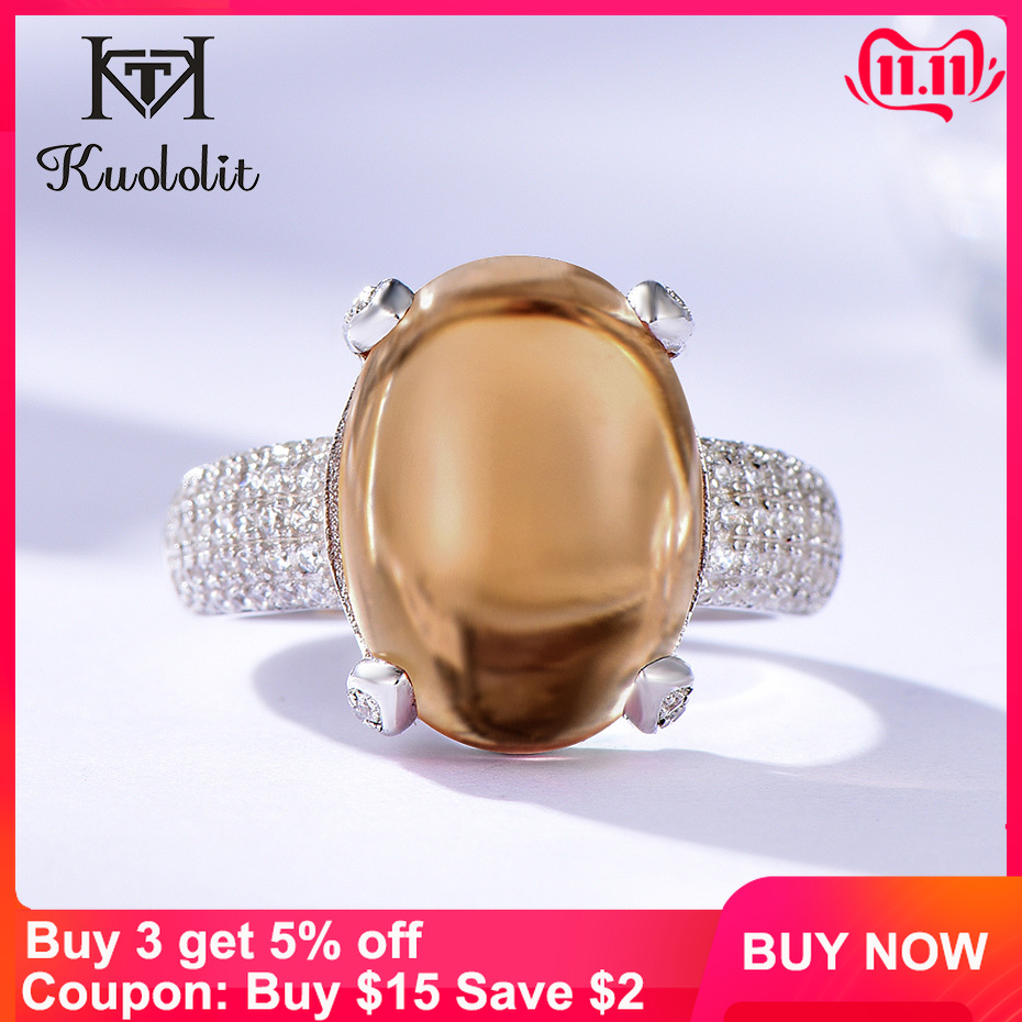 Kuololit Zultanite Gemstone Rings For Women Solid 925 Sterling Silver Color Change Oval Diaspore Stone Engagement Fine Jewelry
