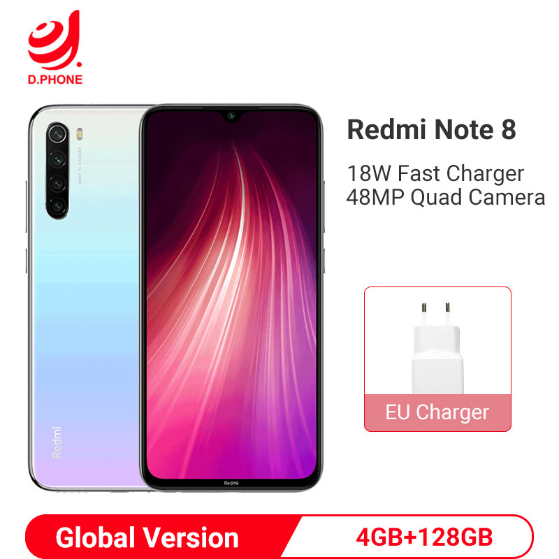 Globale Version <font><b>Xiaomi</b></font> Redmi Hinweis 8 4GB 128GB Smartphone Snapdragon 665 Octa Core 48MP Quad Hinten Kamera 6,3