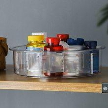 Круглый пластиковый прозрачный поворотный органайзер и контейнеры