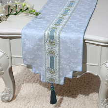 New European style Decoration Table Runner Chinese living room Rectangle Tea Cloth Dining Mat Simple Bed Runners
