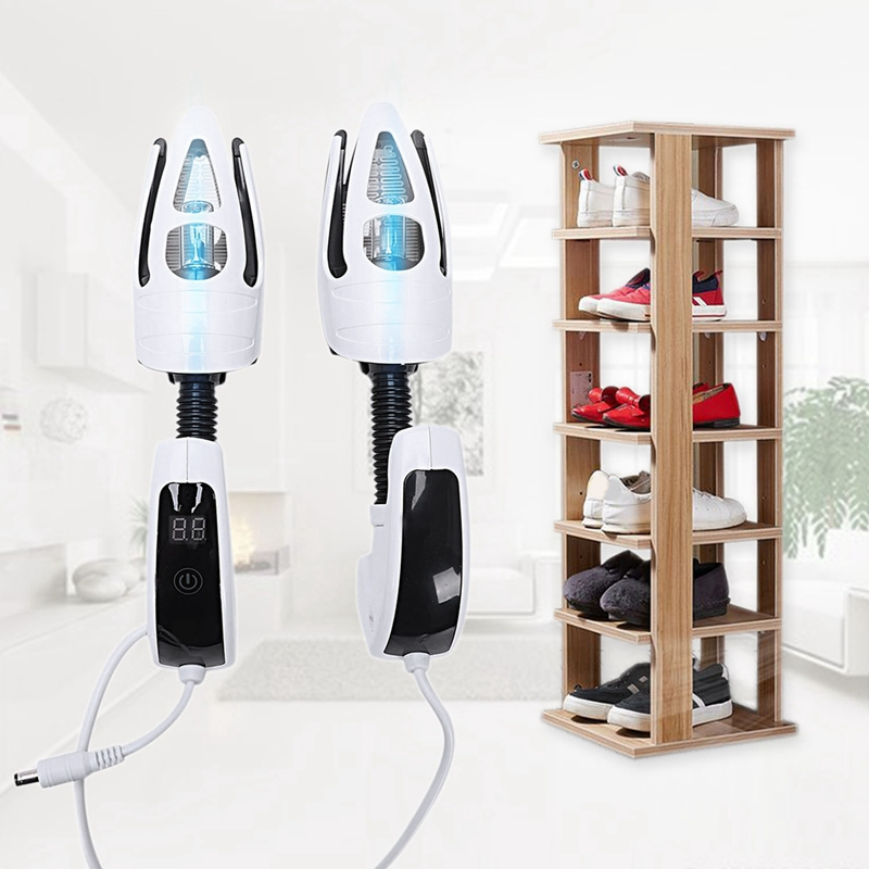 Electric Shoe Dryer Deodorant UV Shoe Sterilizer LED Screen Timer Press Switch Shoe Dryer UK Plug