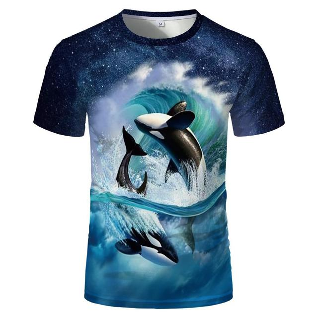 2020 Summer New Men's And Women's Casual 3d Printed T-Shirts Funny Fish Men And Women Hip-hop Fashion Round Neck Short Sleeves