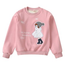 6Girls Tops Clothing Autumn Kids Baby Girl Cartoon Print Sweatshirts Casual Toddler Blouse Long Sleeve O-Neck Outerwear стоимость
