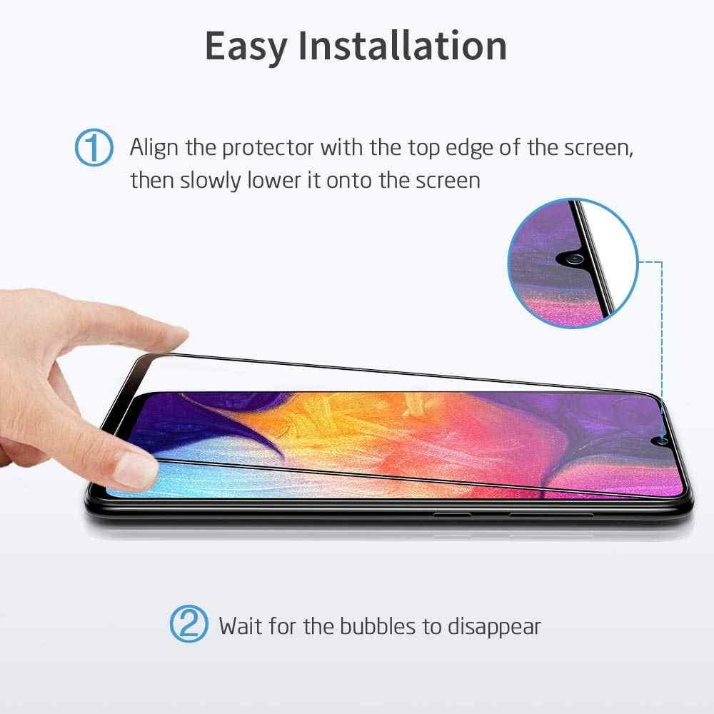 2 Pz/lotto Pieno di Colla di Vetro Temperato per Samsung Galaxy A10 A20 A20e A30 A40 A50 A70 A30S A50S A20S A10E protezione Dello Schermo di Vetro