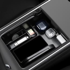 Новинка для Tesla модель 3 Y 2021 ящик для хранения в подлокотнике автомобиля Органайзер контейнеры центральной консоли Флокированная коробка для хранения консоли держатель Все для уборки      АлиЭкспресс
