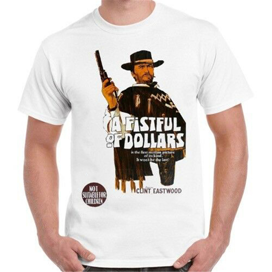 A Fistful Of Dollars Italian Cool Vintage Poster  T Shirt B289