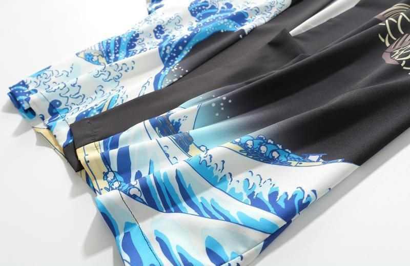 Kimono Cardigan Degli Uomini Giapponese Obi Maschio Yukata Haori da Uomo Giapponese Samurai Abbigliamento Tradizionale Abbigliamento Giapponese