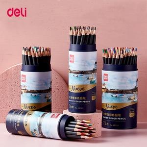 Deli 24/36/48/72 colors wood watercolor pencil Lead Hardness 2B professional colored pencils for Art School Office Supplies