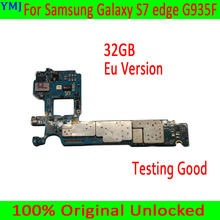 Placa base Original desbloqueada para Samsung Galaxy S7 edge G935F, versión europea para Samsung S7 G935F, placa base con Chip, envío gratis