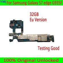 מקורי סמארטפון לסמסונג גלקסי S7 קצה G935F האם, איחוד אירופי גרסה עבור Samsung S7 G935F Mainboard עם שבב, משלוח חינם