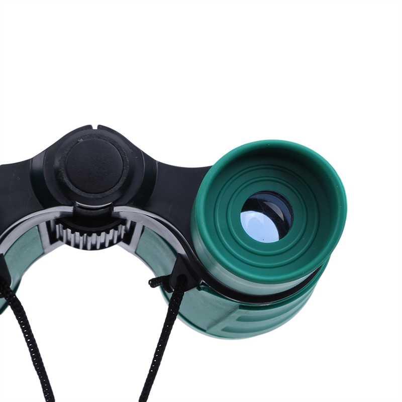 4x Ingrandimento Bambini Binocolo Telescopio Per Bambini Binocolo Giocattolo Pellicola Blu per Le Piccole Mani Bird Watching Viaggiare Trekking