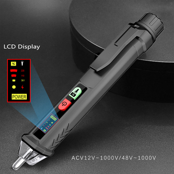 BSIDE Voltage detector indicator Smart Non-contact Electric pen Neutral/Live Wire Continuity Tester Voltmeter test Better HT100E - discount item  50% OFF Measurement & Analysis Instruments