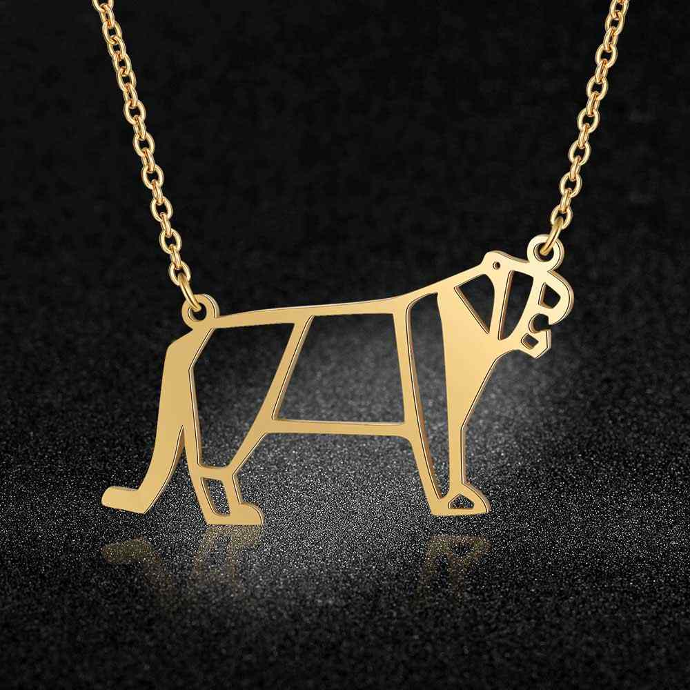 Unique Animal Jewelry Necklaces for Women 100% Stainless Steel Hippo Elephant Ballerina Ballet Pendant Necklace Special Gift