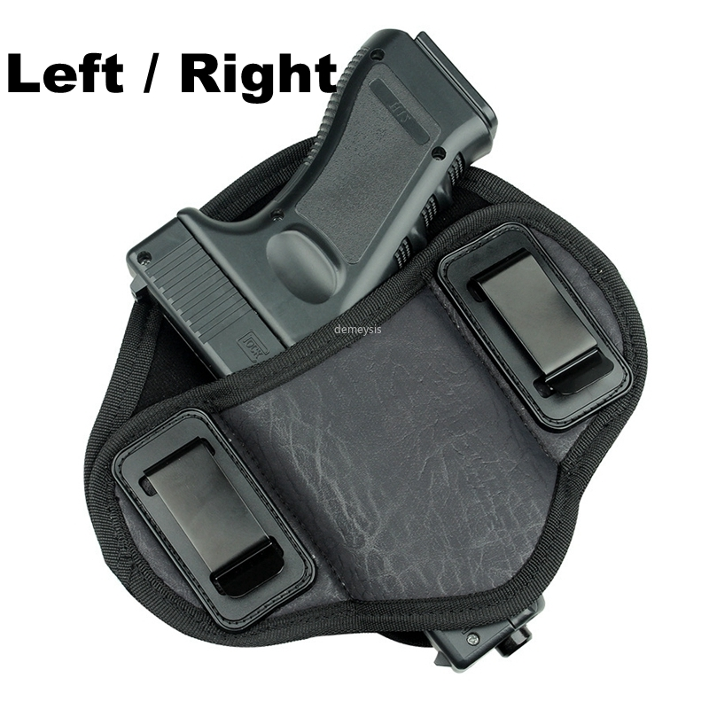 Concealed Handgun Belt Holster Right or Left for Small Middle Size Handguns Case for Pistol Glock 17 19 23 32 Beretta 92 Taurus image