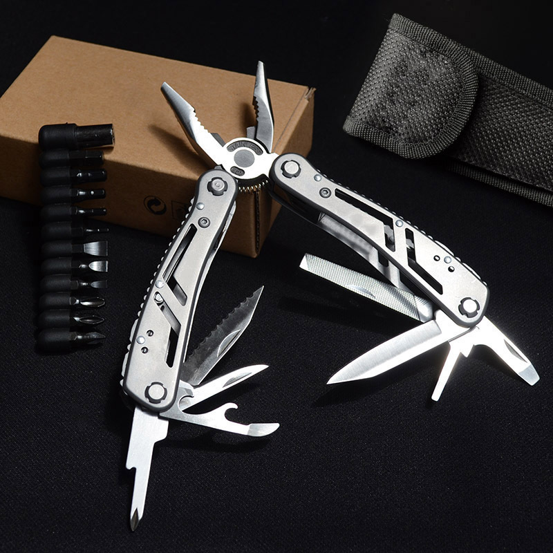 Knife Clamp Hot Sales-All-Steel Knife Pliers High Quality Folding Outdoor Emergency Portable Combined Tool