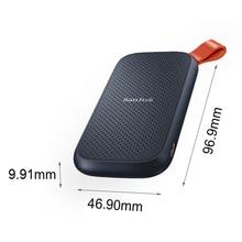 SanDisk-disco duro externo SSD E30, 1TB, 480GB, 520M, USB 3,1, HD, 2TB, para ordenador portátil