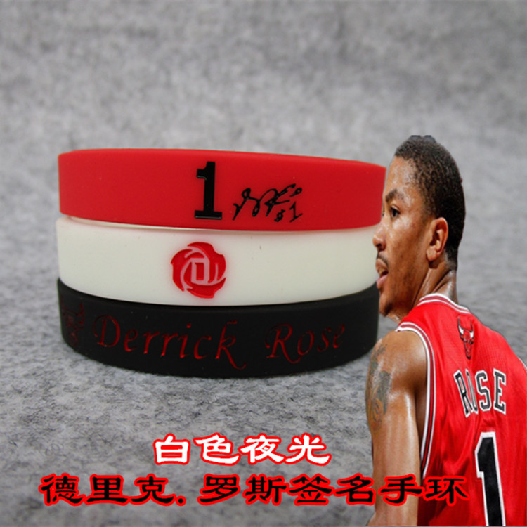 NBA Basketball Star Rose Signature Edition Sports Bracelet Wrist Strap Kobe Curry James Durant Polo