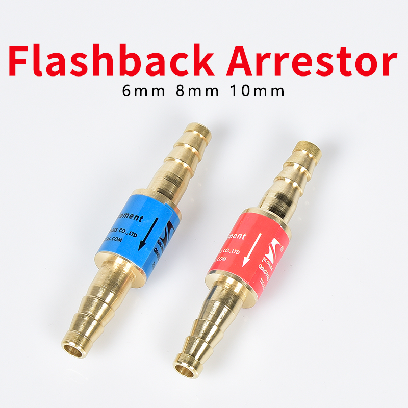"Flashback Arrestor Oxygen Acetylene/Fuel Safety Valve Welding/Cutting Torch 8mm/0.31"" Or 10mm/0.4"" Hose Flame Buster"