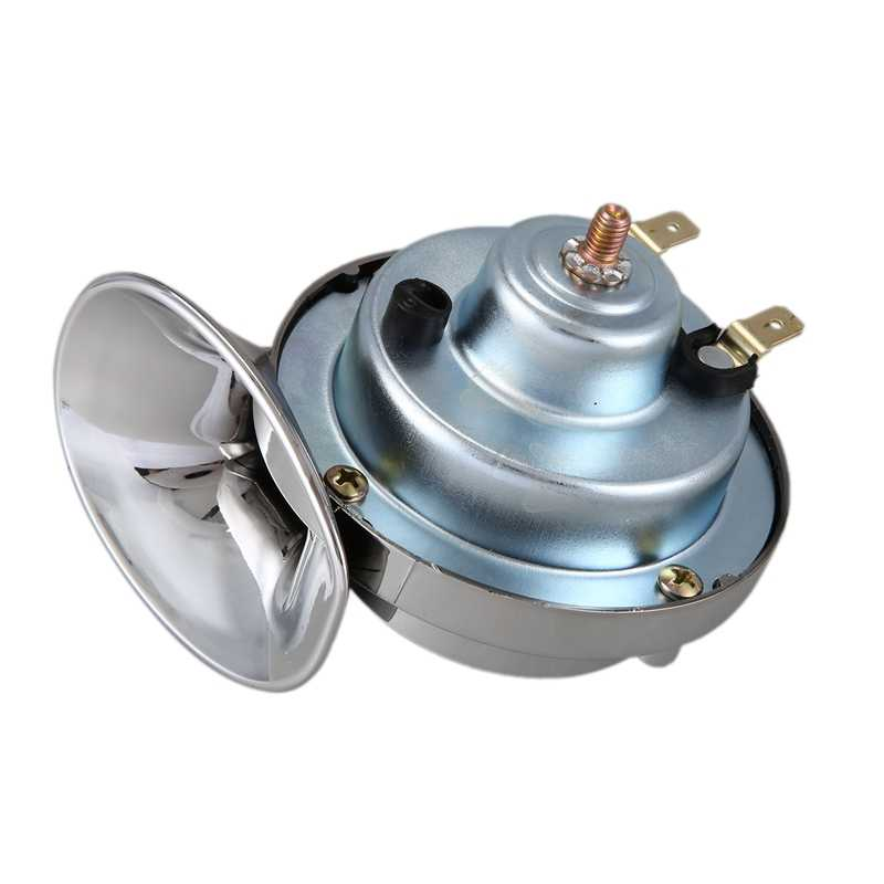 Aramox Electric Loud Horn Universal 12V 110DB Horn Waterproof Round Horn Speaker for Motorcycle